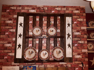 Homemade star pellet plate rack(plates not for sale)