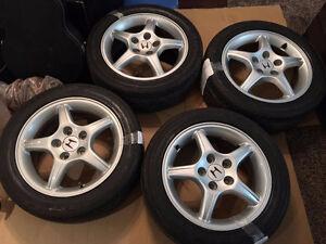 97-01 honda prelude SH rims and tires