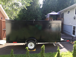 Secure enclosed 12 foot trailer