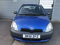 2001 TOYOTA YARIS 1.0 16v VVTI S 3 DOOR HATCHBACK * PART EXCHANGE TO CLEAR *