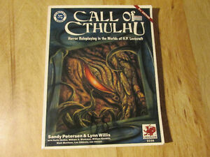 Chaosium CALL OF CTHULHU 5th RPG Roleplaying Game Book Lovecraft