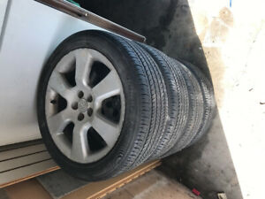 Toyota summer rims and tires off of a 2005 Toyota Matrix
