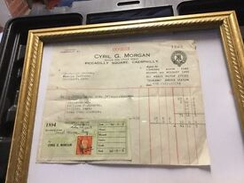 Motorbike invoice 1939