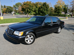 1998 Mercedes S320L low mileage / bas km