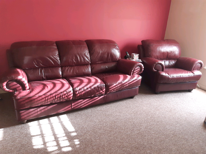 Leather sofa and arm chair | in Kingswood, Bristol | Gumtree