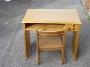 child's small desk and chair