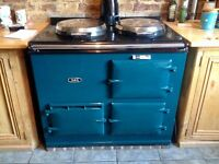 GAS AGA 2 OVEN 2 HOB RANGE COOKER WITH BACK BOILER