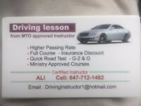 Driving Lessons/Driving Instructor/School/Certificate  $20 1 hr.