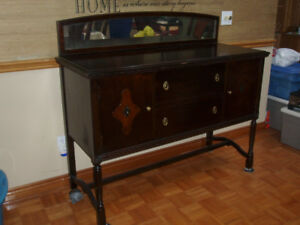 MAKE A OFFER ~ ANTIQUE BUFFET & CHINA CABINET SET ~