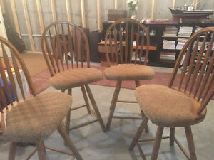 4 Bistro height chairs