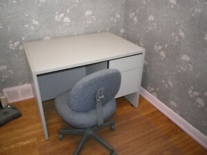 Desk set and bookcase for sale