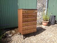 Vintage Chest of Drawers on Legs. Delivery possible.