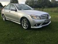 Mercedes-Benz C200 2.1TD auto 2008 Sport AMG PACK SILVER 70000 MILES LEATHER