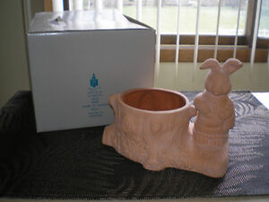 ~ Partylite Bunny Planter Candle Holder Flower Pot ~
