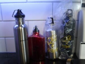 4 stainless water bottles