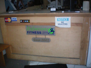 """Wood counter/cabinet -44"""" high-27""""deep -75"""" long -good condition"""