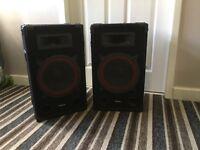 "Ibiza sound 10"" speakers (Pair)"