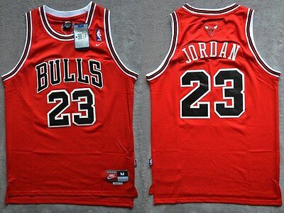 NBA Swingman Jersey MICHAEL JORDAN # 23 BULLS  Basketball Retro Red/Black S/M/L
