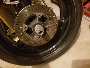 1996-99 gsxr 600 rear wheel / break caliper setup