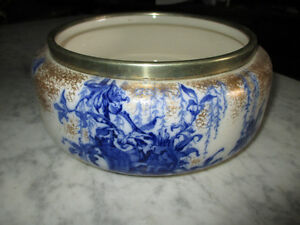 saladier victorien antique Royal Doulton, flow blue