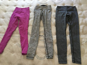 Lululemon leggings and capris - size 2 and 4!