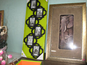 PICTURE AND ELEPHANT PICTURE FRAME