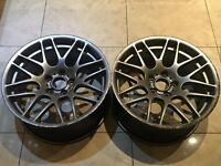 "X2 19"" REAR BMW CSL STYLE ALLOY WHEELS 9J SILVER 5x120 1 3 5 Series msport 359"