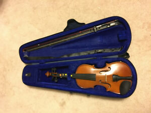 Size 1/2 Violin with case and Rusin