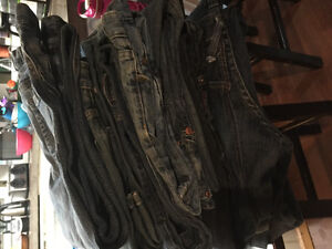 13 pairs of brand name jeans
