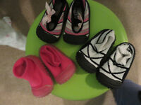 3 pairs of Skidders baby shoes (6-18months)
