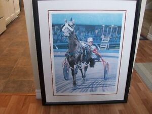 LARGE LIMITED EDITION PRINT - HORSE AND SULKY
