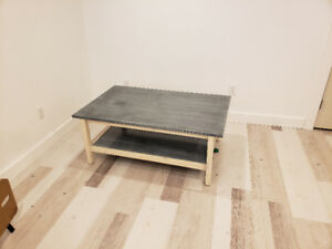 White/Black Washed Coffee Table
