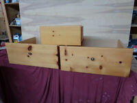 KNOTTY PINE DRAWERS