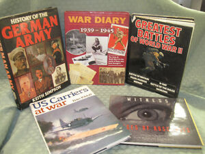 HUGE ASSORTMENT OF WWII & HISTORY BOOKS