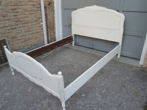 Vintage Antique White Shabby Chic Double Bed
