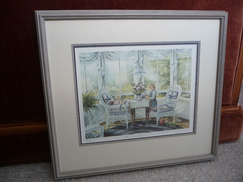 Framed Limited Edition Print - The Tea Party By Trisha Romance