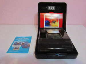 Polaroid Spectra Onyx Transparent Camera w/ Box and Manuals
