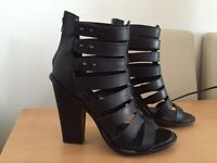 Office Black Gladiator Heels size 6