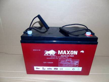 Deep Cycle Battery - Maxon  12V 135Ah Gel Battery 2YR Warranty