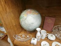 Large World Globe at KeepSakes at Carson's Flea Market