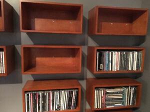 boîte de rangement CD en bois