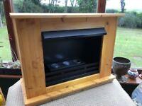 Pine wood surround Bio Fuel Fire. Good condition