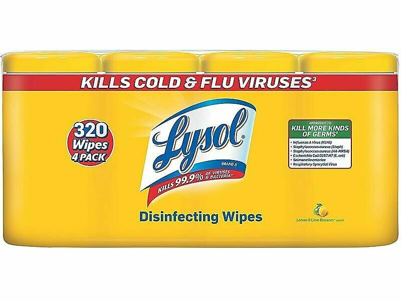 Lysol Disinfecting Wipes Lemon and Lime Blossom 80/Canister 2126028