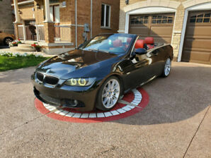 BMW 335i CONVERTIBLE RED INTERIOR