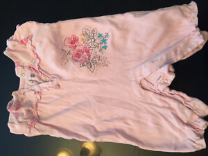 One piece short sleeves baby outfit