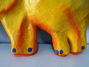 YELLOW ELEPHANTS ANYONE papier-mâché HAITI fabulous BABY'S ROOM Cambridge Kitchener Area image 3