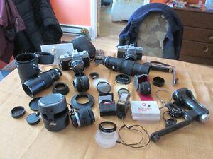 Ensemble de caméra 35mm Minolta SRT & accessoires