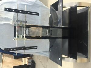 three tv stands, 3 LED TVs, 2 PS3 super slim, DVD