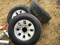 Ford F-350 rims and tires 275-70-18