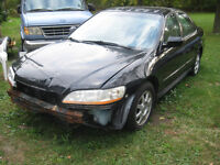 WRECKING;;2002 HONDA ACCORD 4 DR PARTS ONLY;;
